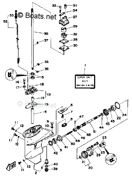 Yamaha Outboard Parts by HP 8HP OEM Parts Diagram for