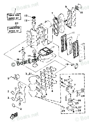 Yamaha Outboard Parts by Year 1991 OEM Parts Diagram for