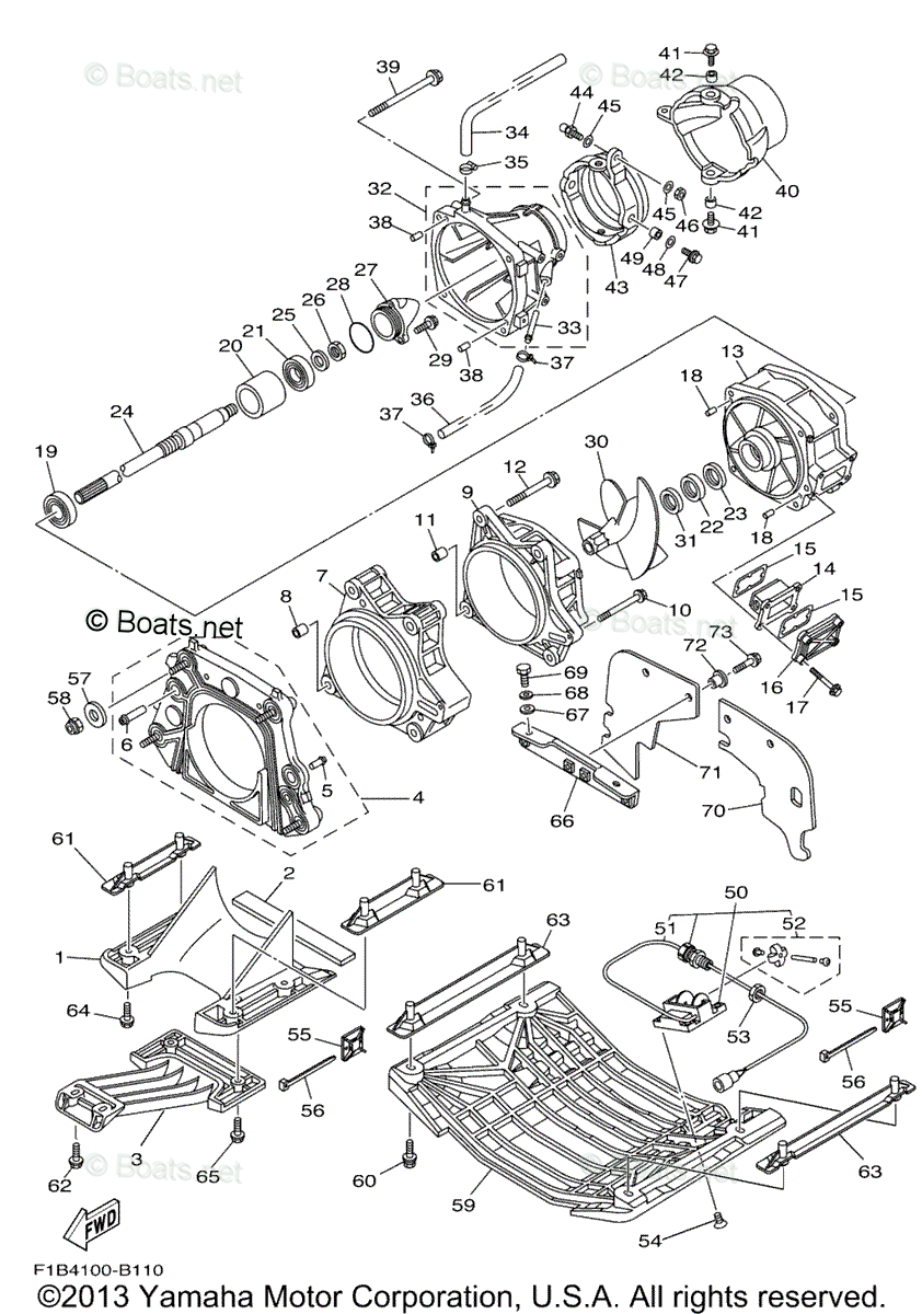 Yamaha Waverunner Parts 2004 OEM Parts Diagram for Jet