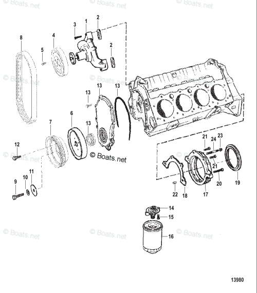 small resolution of mercury mercruiser inboard parts by size serial gas oem parts diagram for water pump and front cover boats net