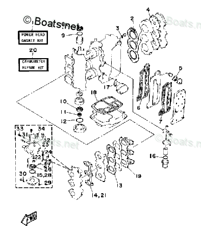 Yamaha Outboard Parts by Year 1988 OEM Parts Diagram for