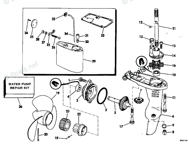 Johnson Outboard Parts by HP 2HP OEM Parts Diagram for