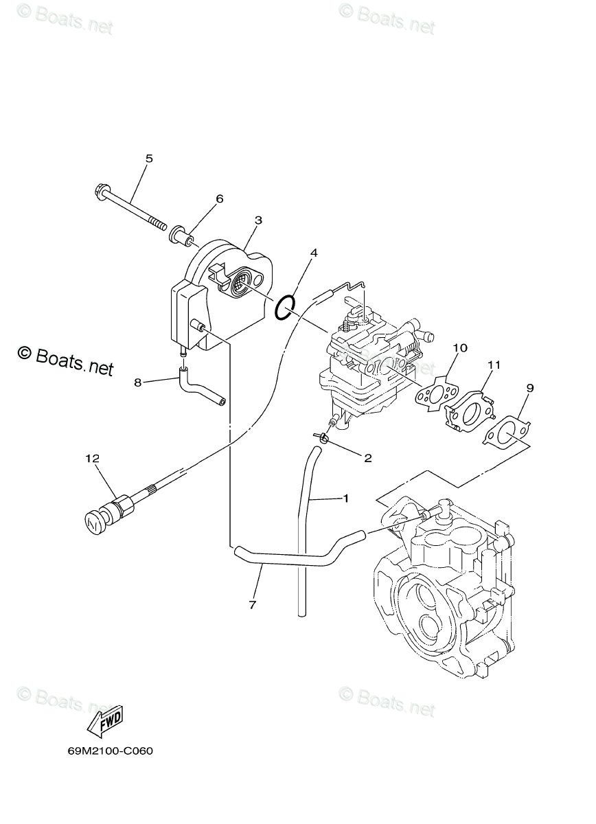 Yamaha Outboard Parts by HP 2.5HP OEM Parts Diagram for