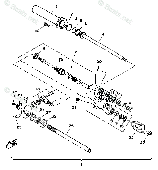 Yamaha Sterndrive Parts L4 DR 1990 OEM Parts Diagram for