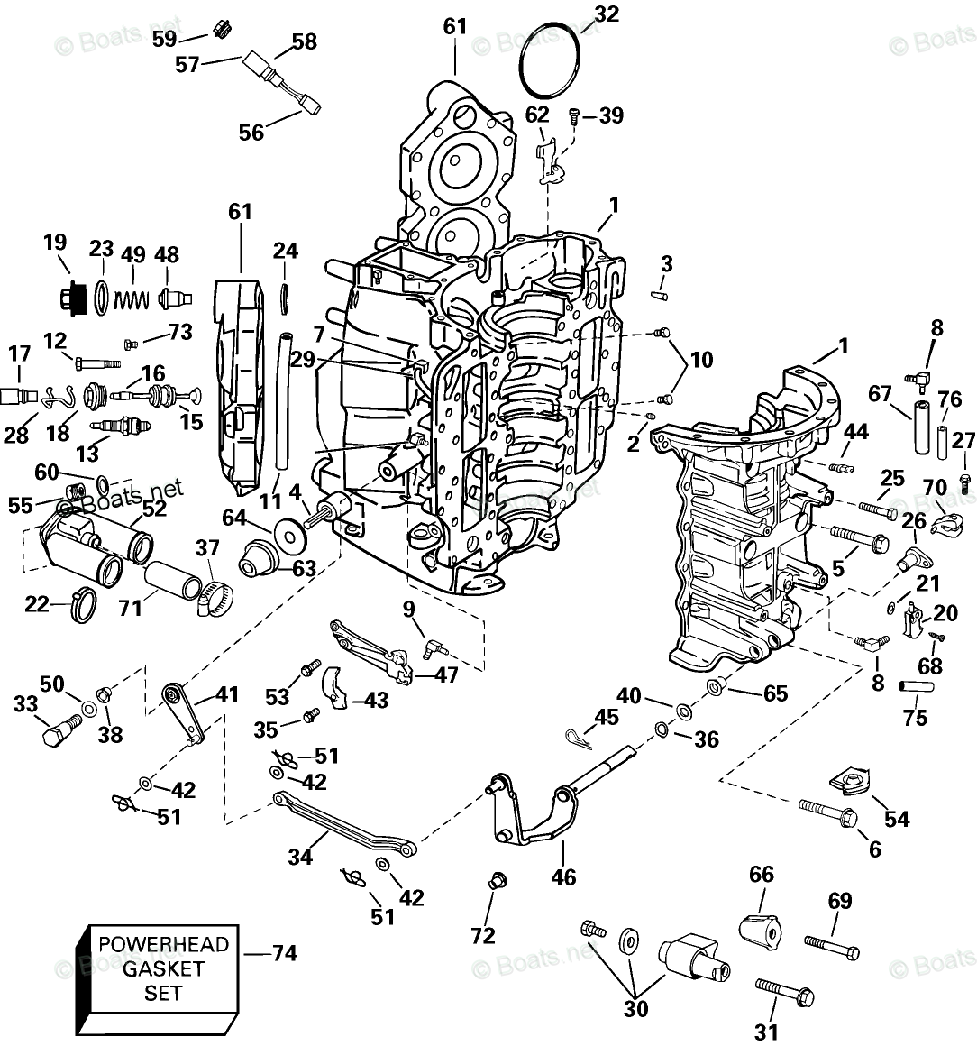 Johnson Outboard Parts by Year 2003 OEM Parts Diagram for