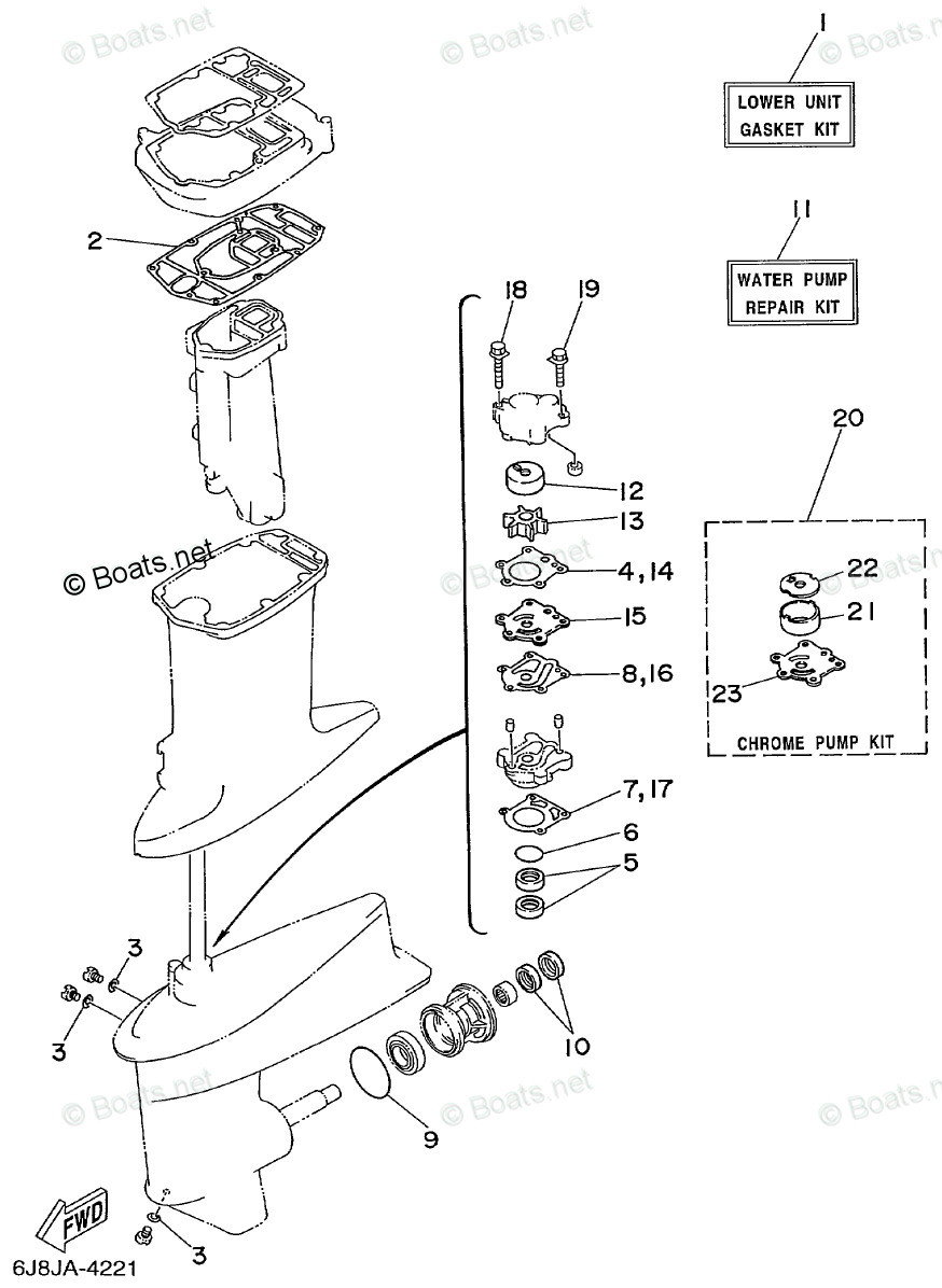 Yamaha Outboard Parts by Year 1999 OEM Parts Diagram for