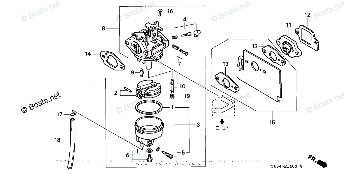 Honda Small Engine Parts GC160 OEM Parts Diagram for
