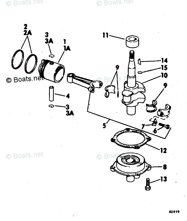Evinrude Outboard Parts by HP 2HP OEM Parts Diagram for