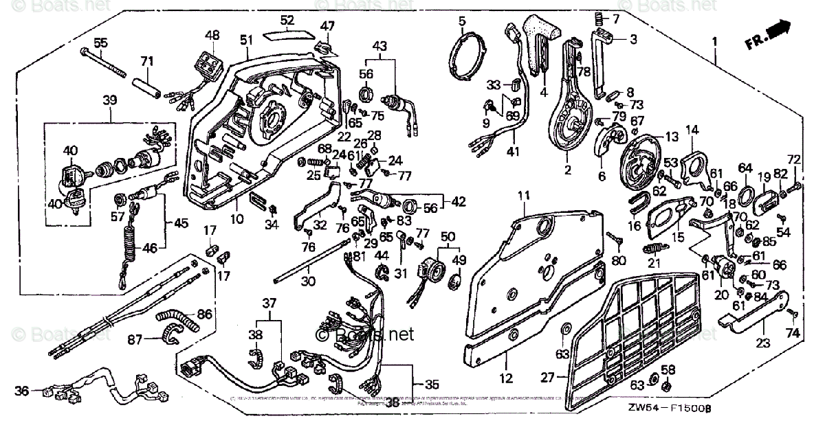 Honda Outboard Parts by Year 1999 OEM Parts Diagram for