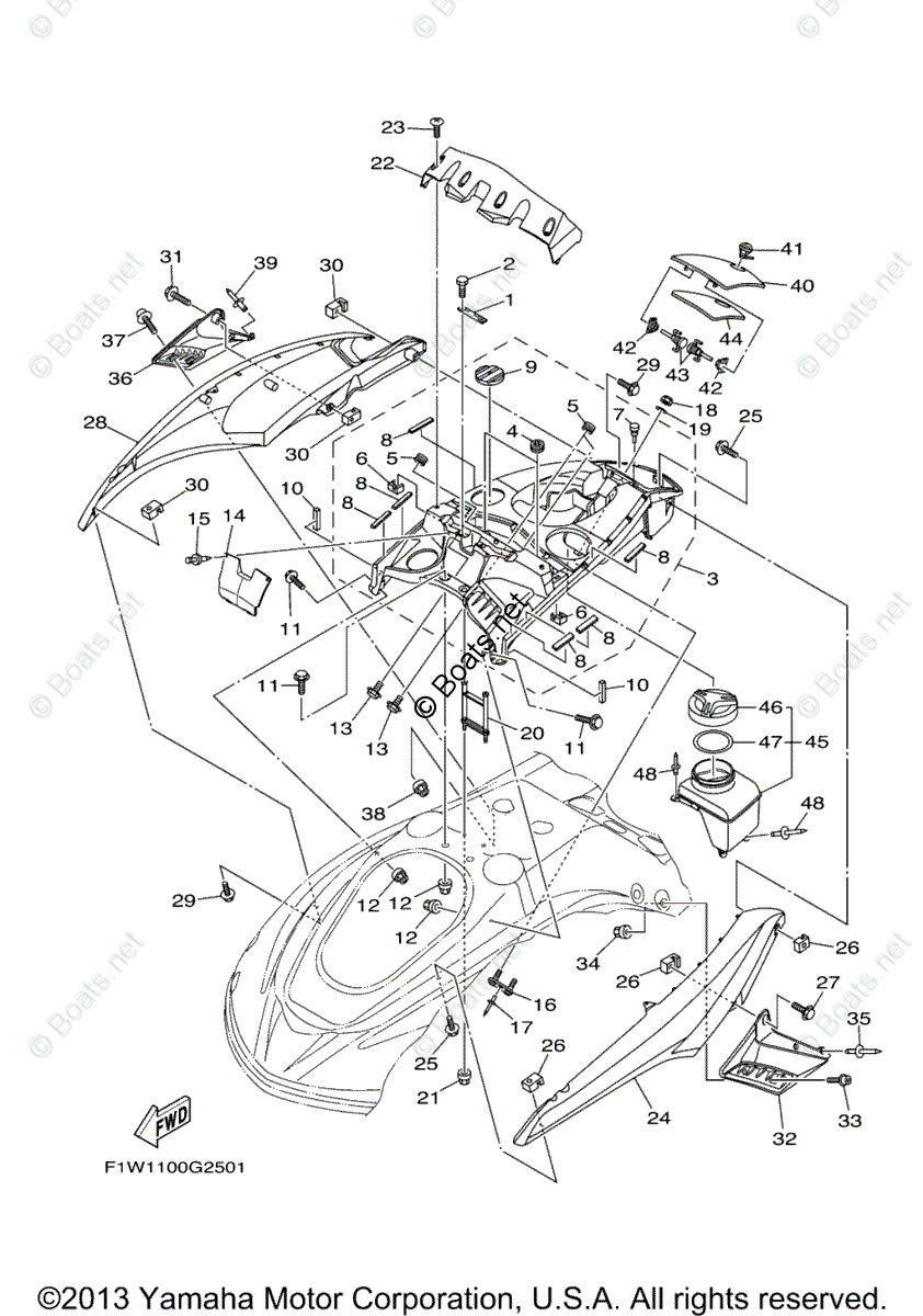 Yamaha Waverunner Parts 2008 OEM Parts Diagram for Engine