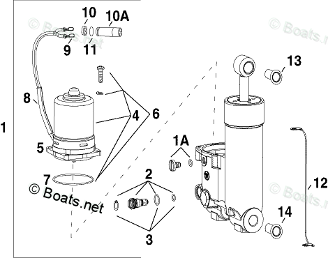 Johnson Outboard Parts by HP 40HP OEM Parts Diagram for