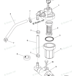 mercury mercury mariner outboard parts by hp liter 8hp oem parts diagram for fuel filter assembly usa 1b153168 bel 0p360021 and up boats net [ 862 x 1052 Pixel ]