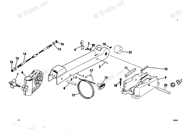 OMC Trolling Motor Parts 12 Volt OEM Parts Diagram for Bow
