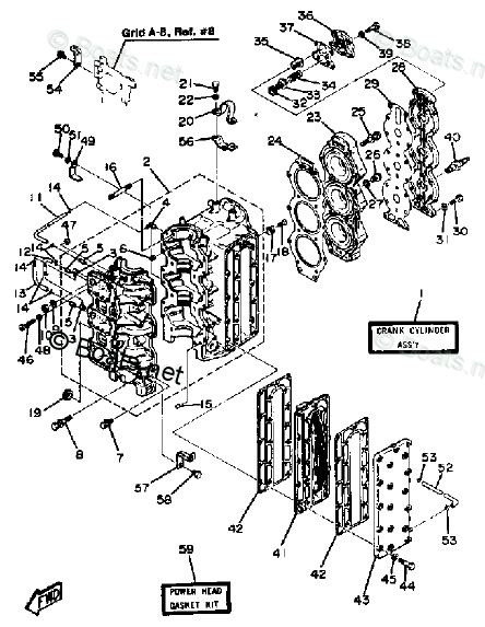 Yamaha Outboard Parts by Year 1984 OEM Parts Diagram for