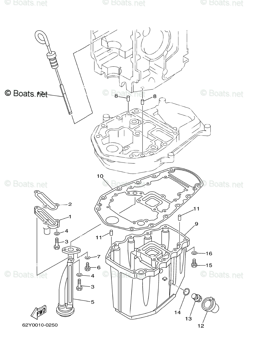 Yamaha Outboard Parts by HP 50HP OEM Parts Diagram for OIL