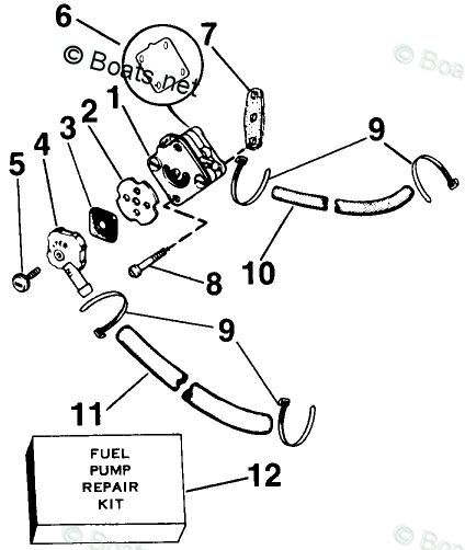 Johnson Outboard Parts by HP 2.5HP OEM Parts Diagram for