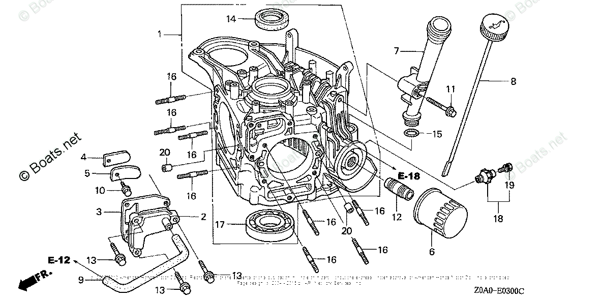 Honda Small Engine Parts GCV530 OEM Parts Diagram for