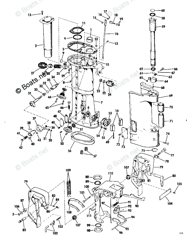 Evinrude Outboard Parts by Year 1968 OEM Parts Diagram for