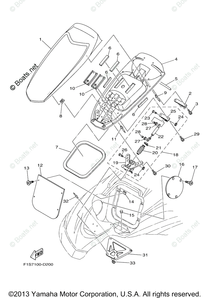 Yamaha Waverunner Parts 2005 OEM Parts Diagram for Engine