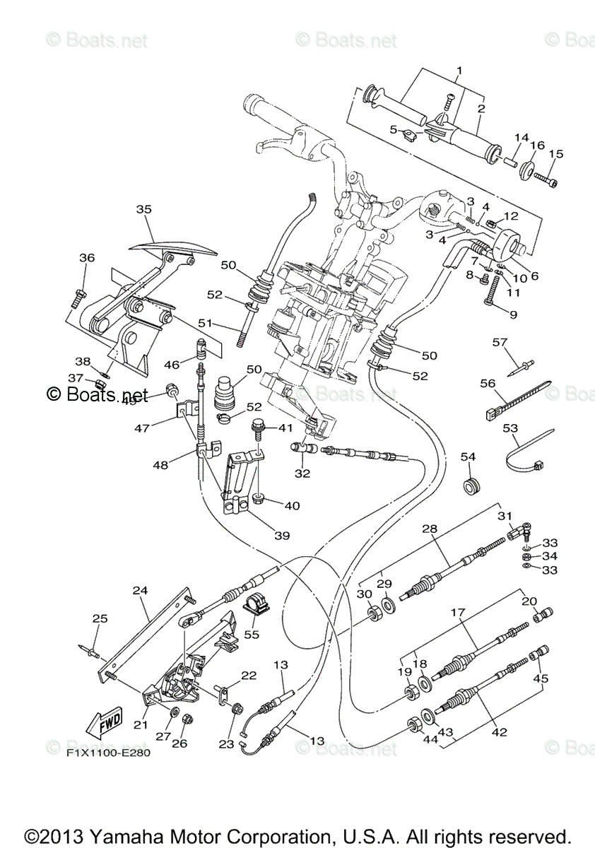 Yamaha Waverunner Parts 2006 OEM Parts Diagram for Control