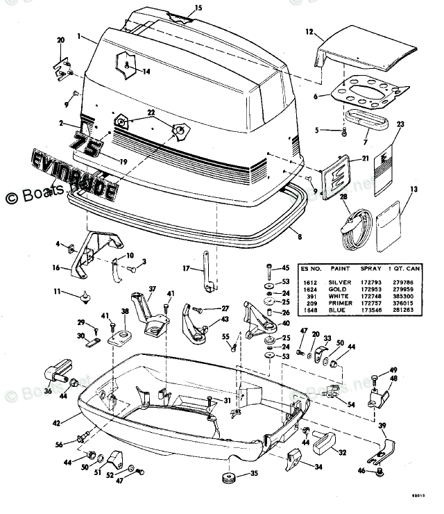 Evinrude Outboard Parts by Year 1978 OEM Parts Diagram for