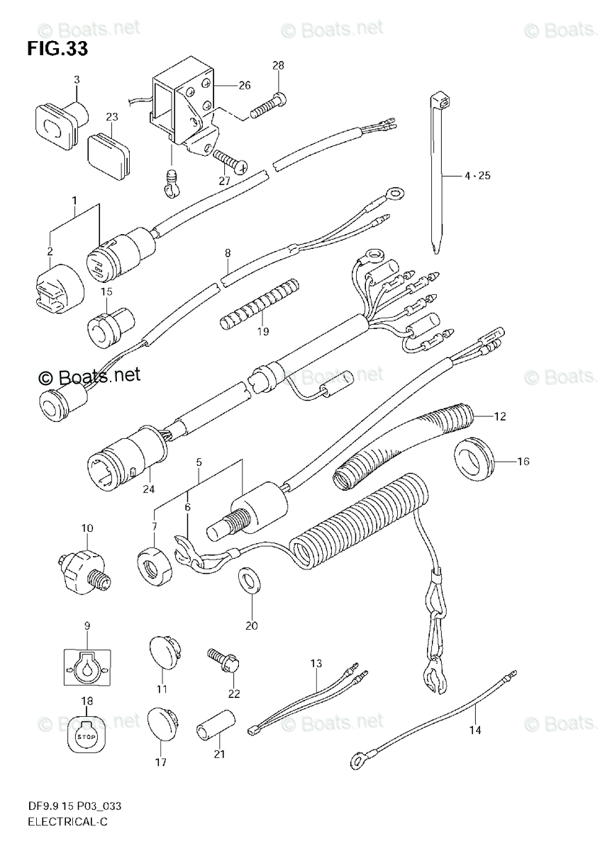 Suzuki Outboard Parts by Year 2010 OEM Parts Diagram for