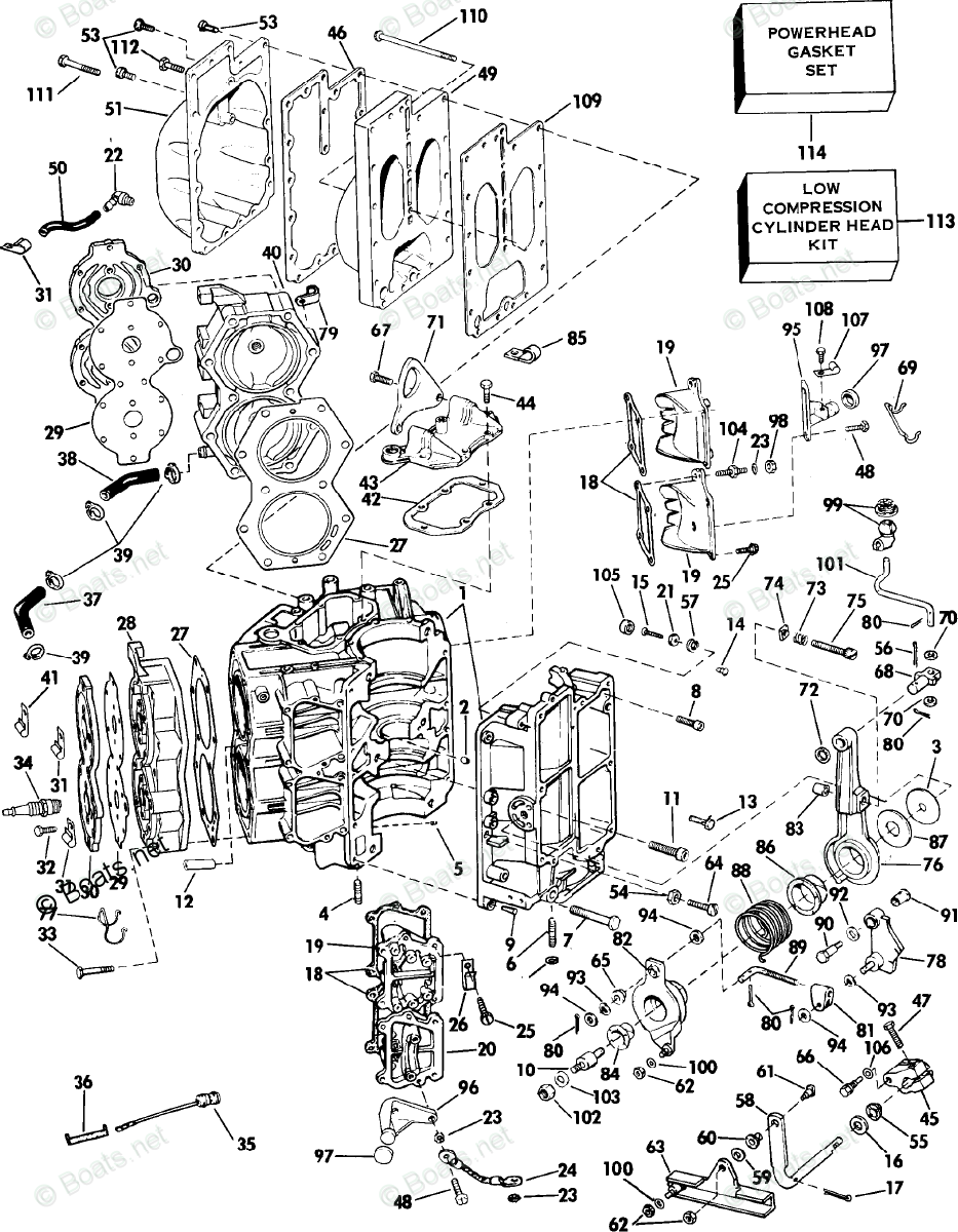 Evinrude Outboard Parts by Year 1985 OEM Parts Diagram for