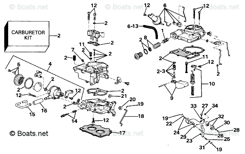 OMC Sterndrive Parts 4.30 Liter OEM Parts Diagram for