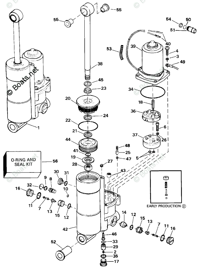 Johnson Outboard Parts by Year 1993 OEM Parts Diagram for