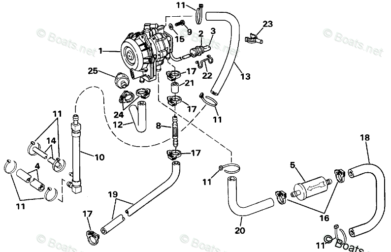 Johnson Outboard Parts by Year 1988 OEM Parts Diagram for