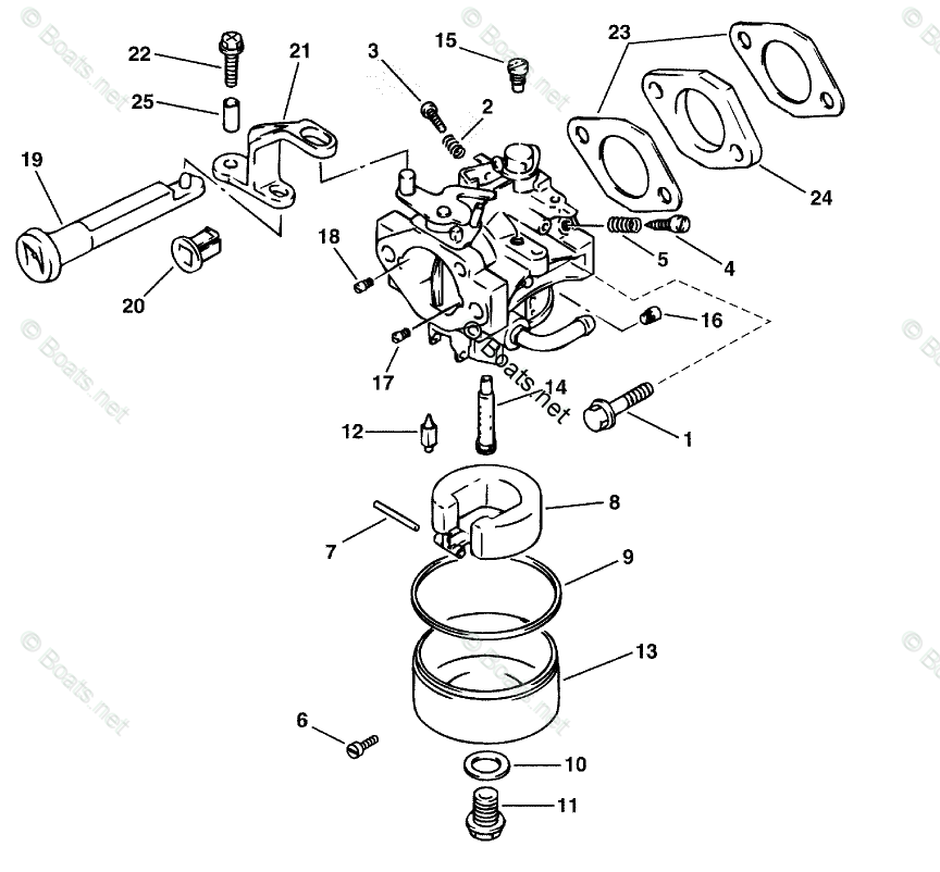 Johnson Outboard Parts by HP 5HP OEM Parts Diagram for