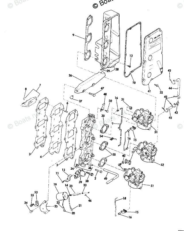 Johnson Outboard Parts by Year 1976 OEM Parts Diagram for