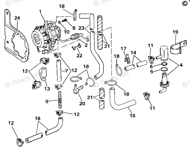 Johnson Outboard Parts by Year 1987 OEM Parts Diagram for