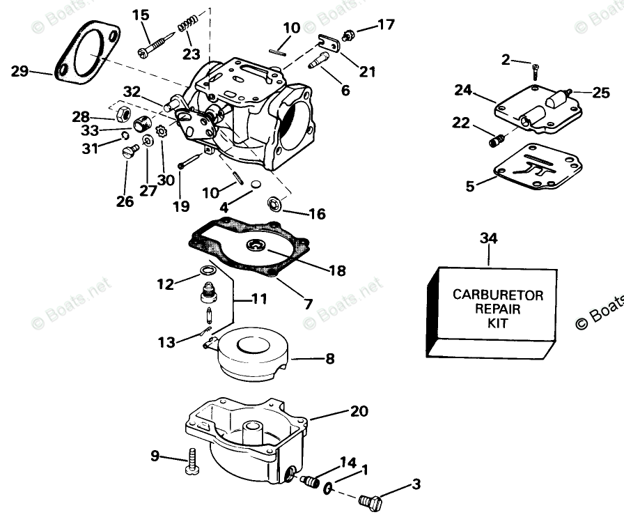 Johnson Outboard Parts by Year 1998 OEM Parts Diagram for