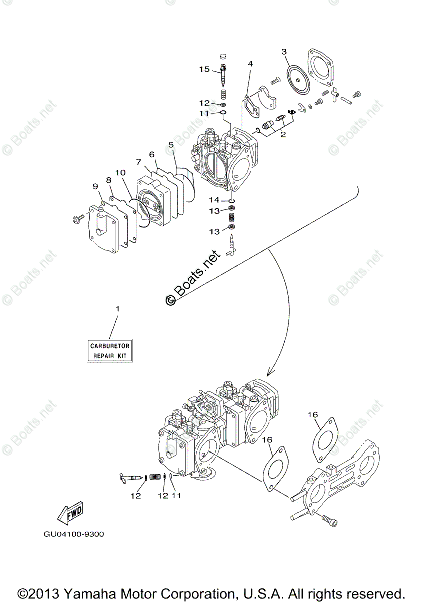Yamaha Waverunner Parts 2002 OEM Parts Diagram for Repair