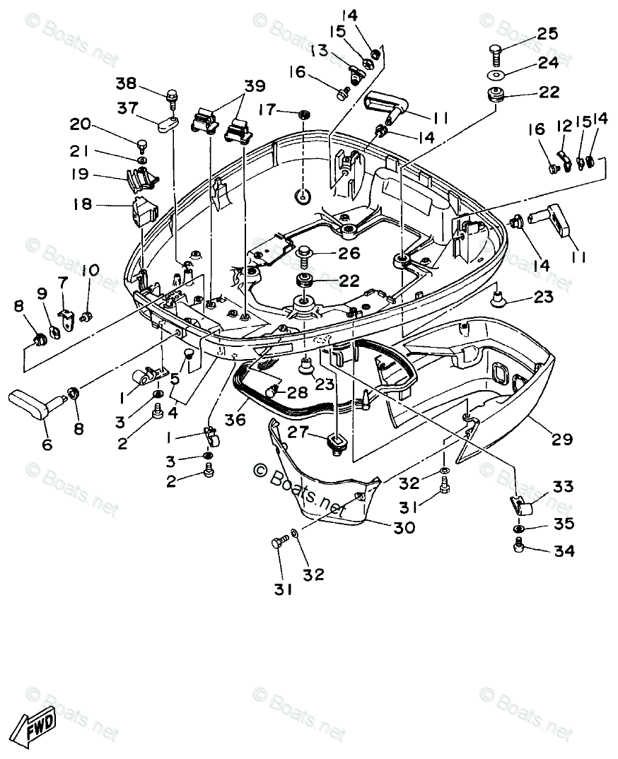 Yamaha Outboard Parts by Year 1998 OEM Parts Diagram for