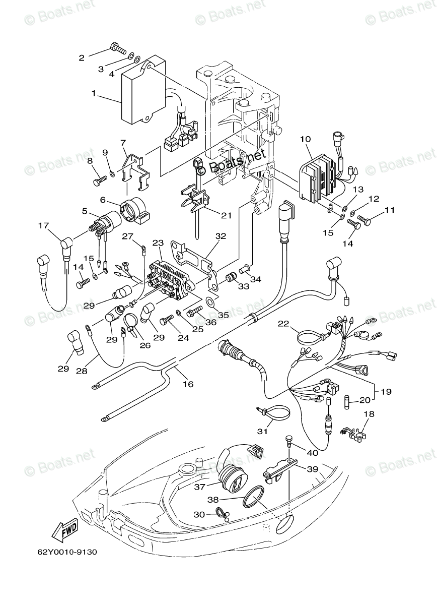 Yamaha Outboard Parts by Year 2000 OEM Parts Diagram for