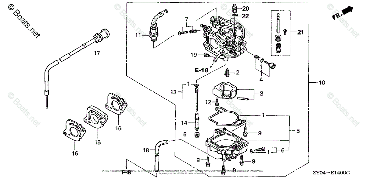 Honda Outboard Parts by Year 2003 OEM Parts Diagram for