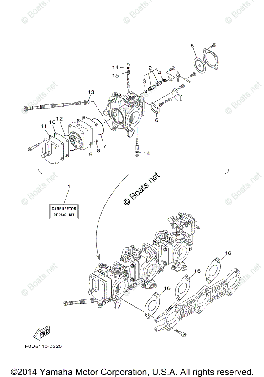 Yamaha Waverunner Parts 2004 OEM Parts Diagram for Repair