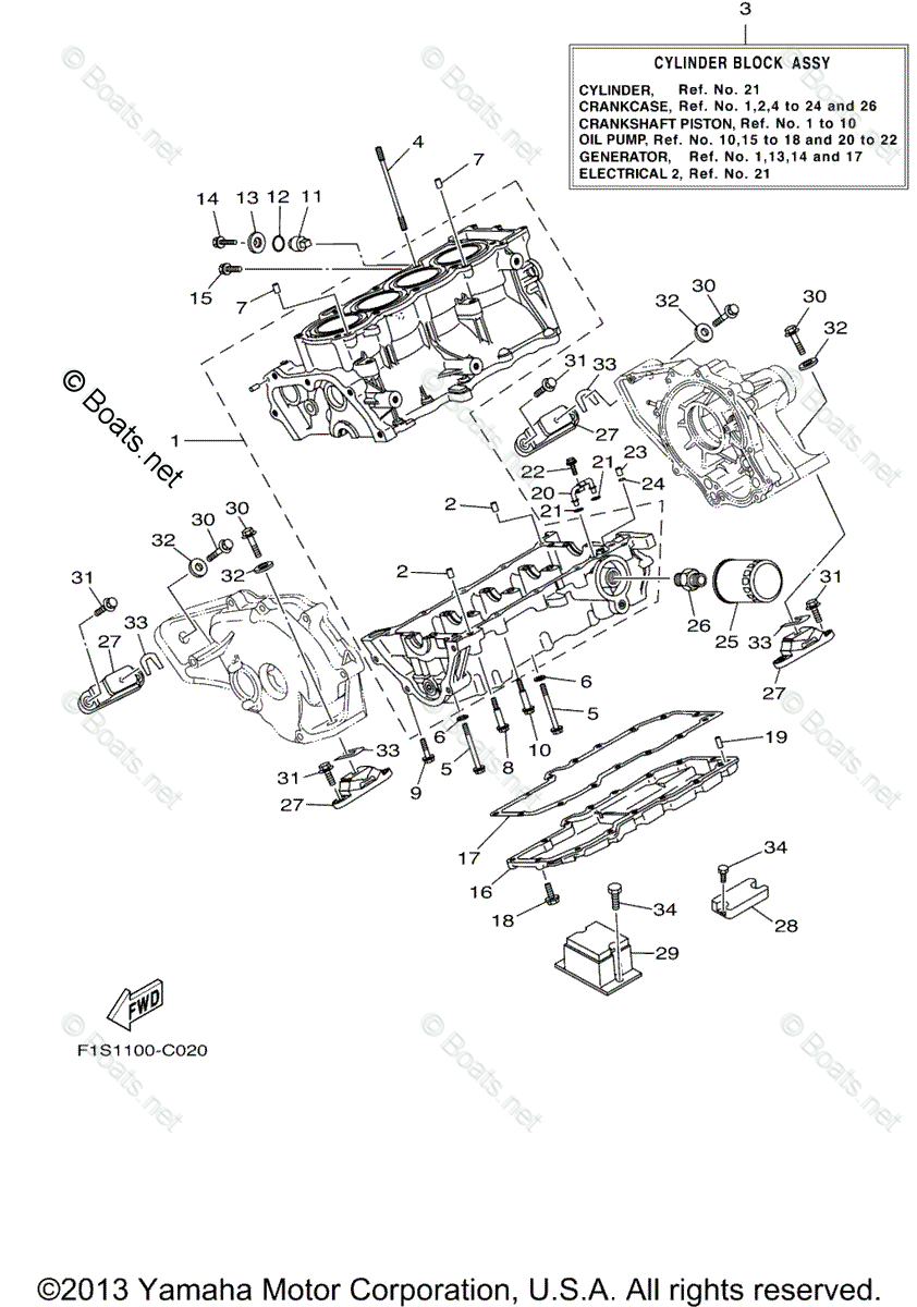 Yamaha Waverunner Parts 2004 OEM Parts Diagram for