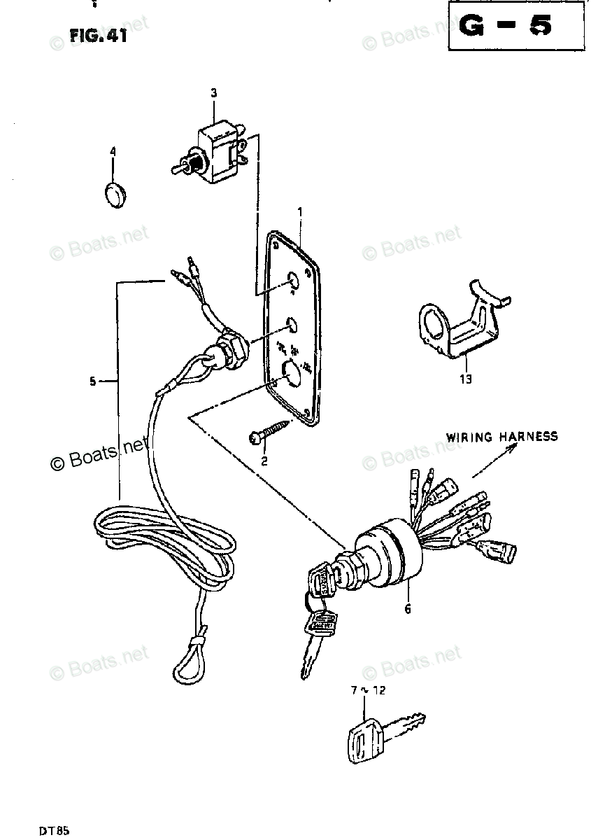 hight resolution of suzuki outboard parts by model dt 85 oem parts diagram for ignitionsuzuki dt 85 wiring diagram