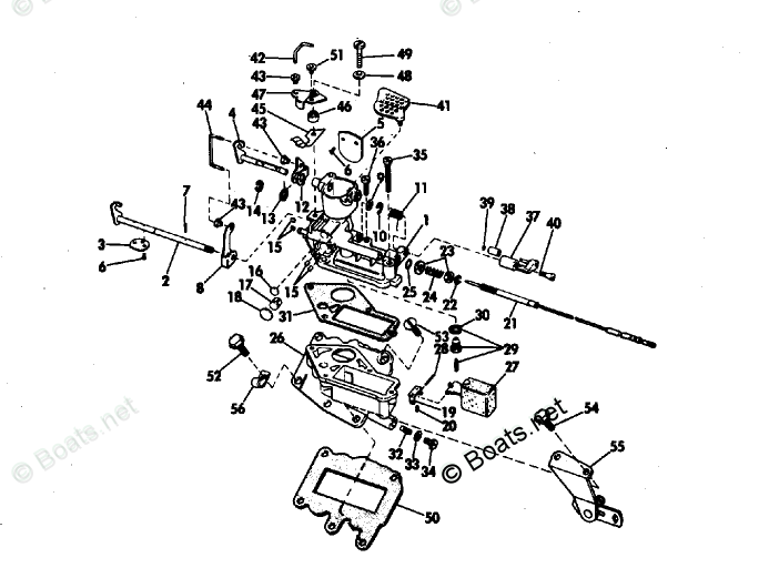 Evinrude Outboard Parts by HP 9.5HP OEM Parts Diagram for