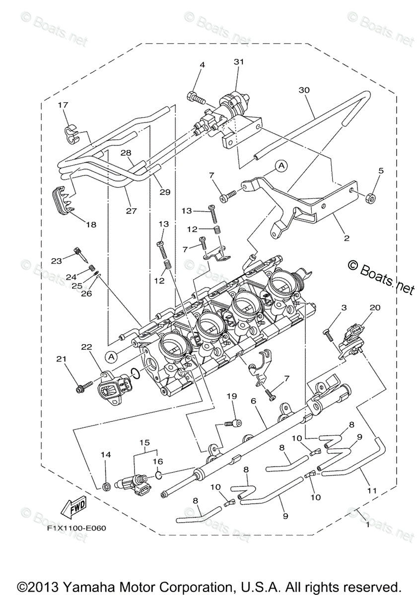 Yamaha Waverunner Parts 2006 OEM Parts Diagram for