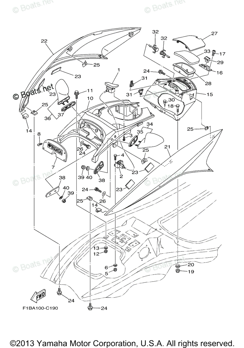Yamaha Waverunner Parts 2004 OEM Parts Diagram for Engine