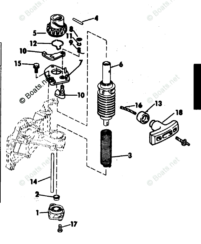 Johnson Outboard Parts by HP 7.5HP OEM Parts Diagram for
