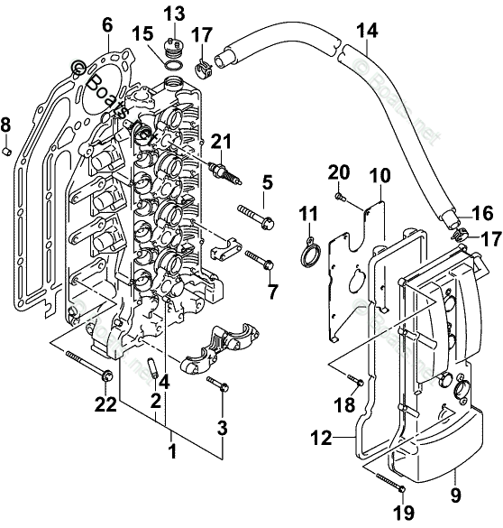 Johnson Outboard Parts by Year 2004 OEM Parts Diagram for