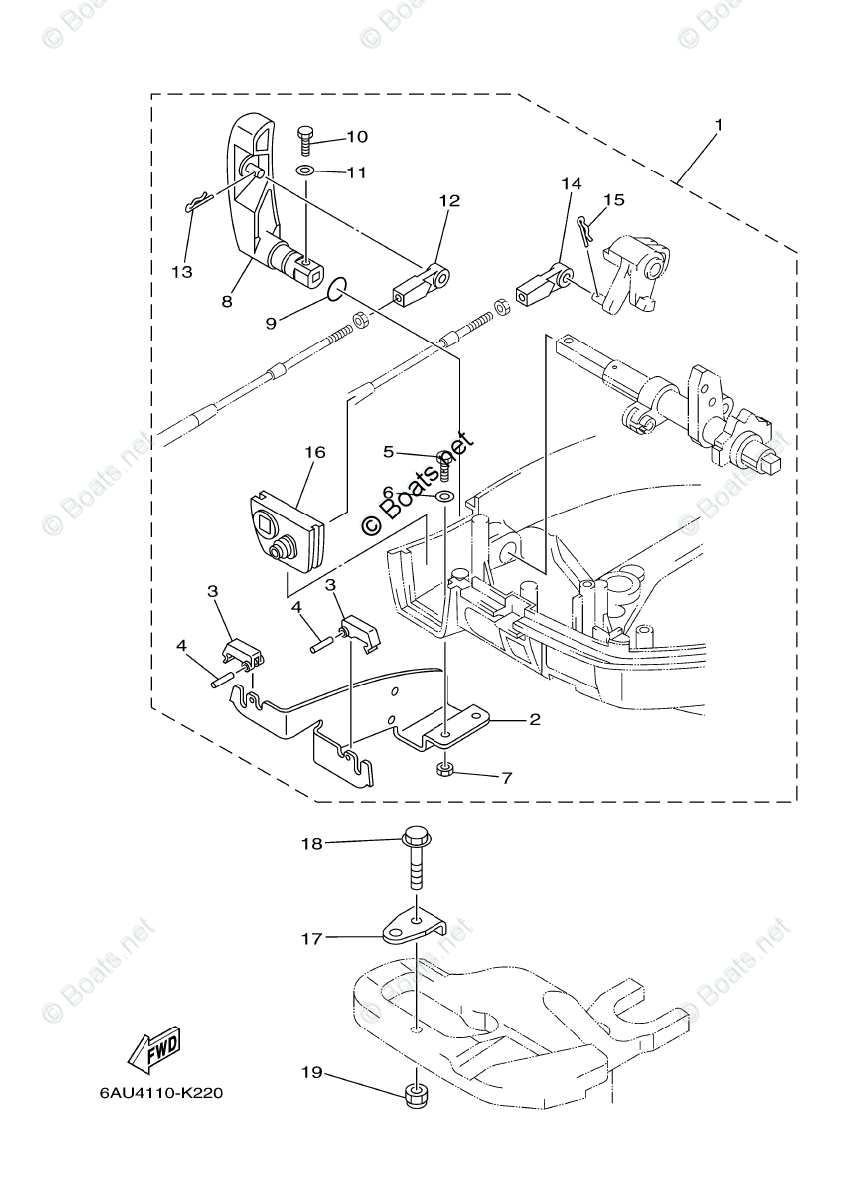 Yamaha Outboard Parts by HP 9.9HP OEM Parts Diagram for