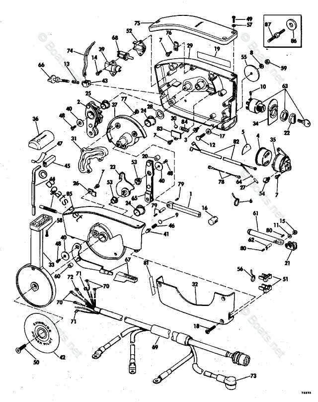 Evinrude Outboard Parts by HP 55HP OEM Parts Diagram for