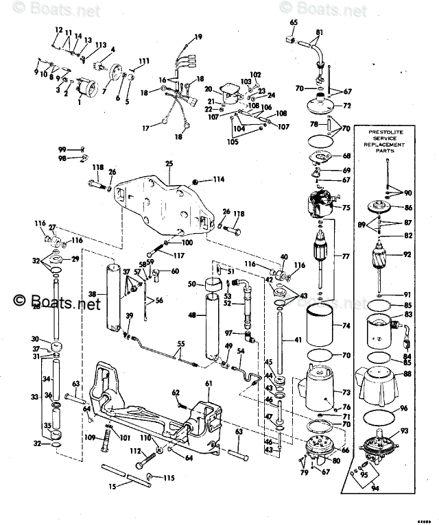 Evinrude Outboard Parts by Year 1976 OEM Parts Diagram for