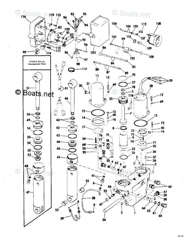 Evinrude Outboard Parts by HP 85HP OEM Parts Diagram for